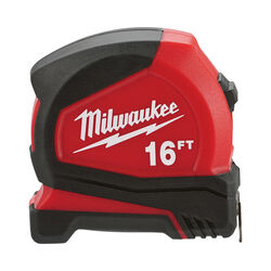 Milwaukee 16 ft. L x 1.6 in. W Compact Tape Measure 1 pk