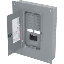 Square D  HomeLine  100 amps 120/240 volt 12 space 24 circuits Combination Mount  Meter Breaker Load
