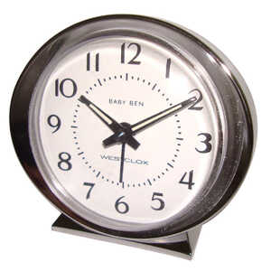 Westclox  3.5 in. Alarm Clock  Analog  Silver