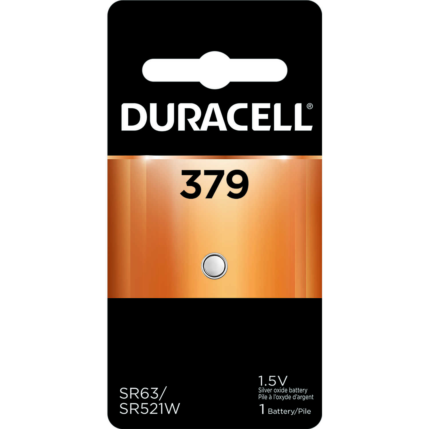 Duracell  Silver Oxide  379  1.5 volt Electronic/Watch Battery  1 pk