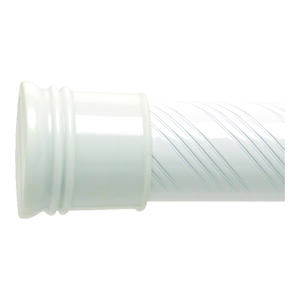 Zenith  Shower Curtain Rod  72 in. L White