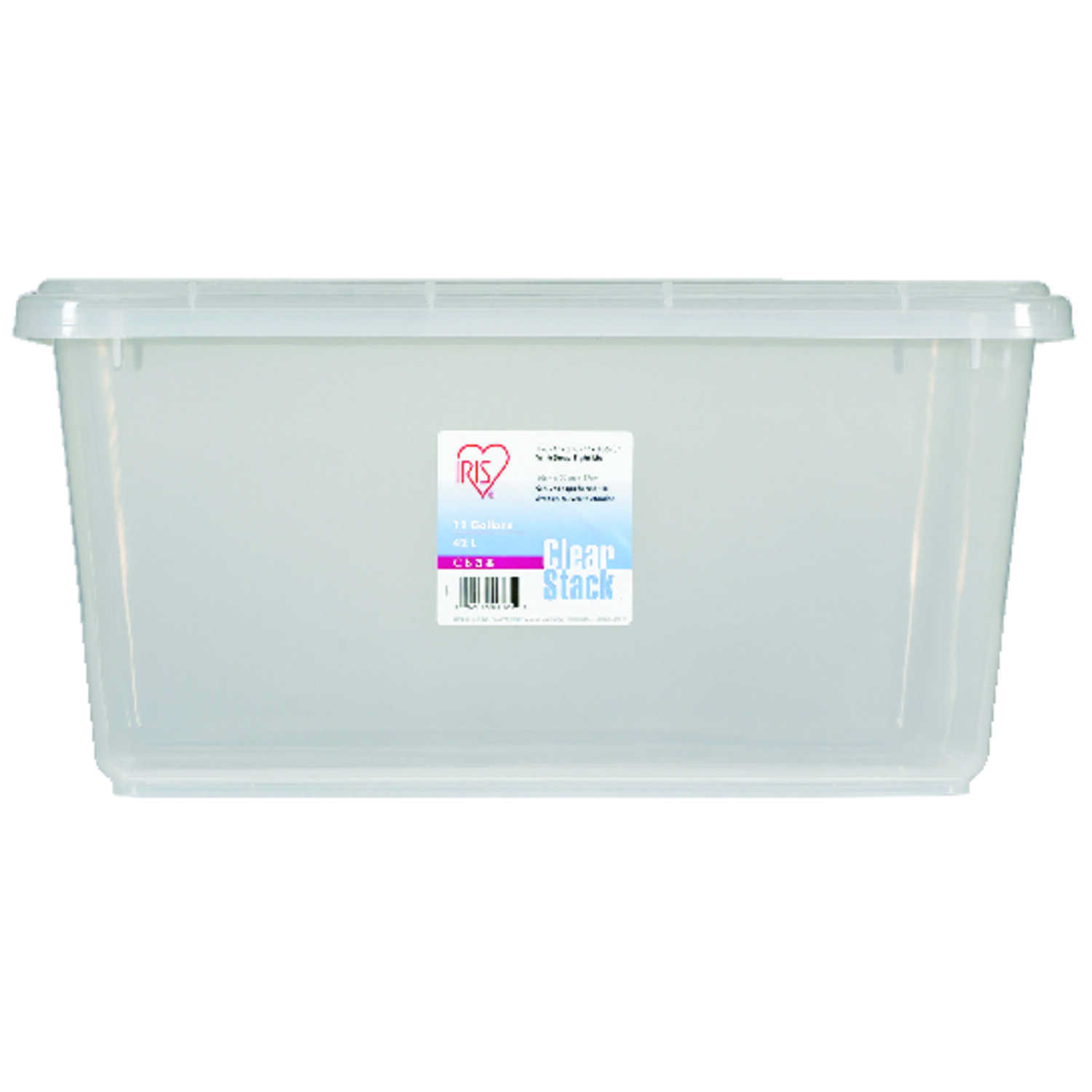 Iris  10.6 in. H x 21.75 in. D x 15.7 in. W Stackable Storage Box