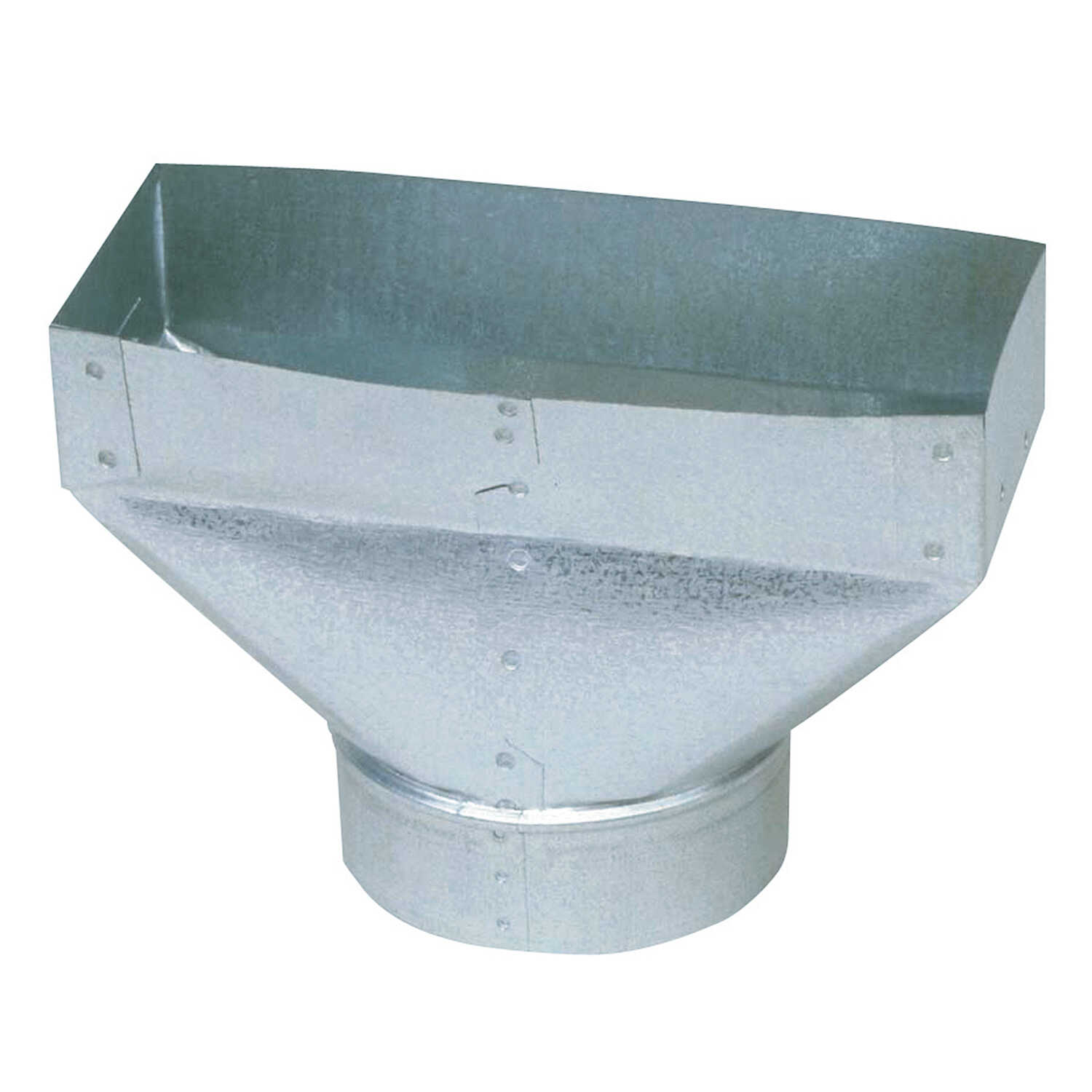 Imperial Manufacturing  10 in. H x 3-1/4 in. D Silver  Galvanized Steel  Straight End Boot