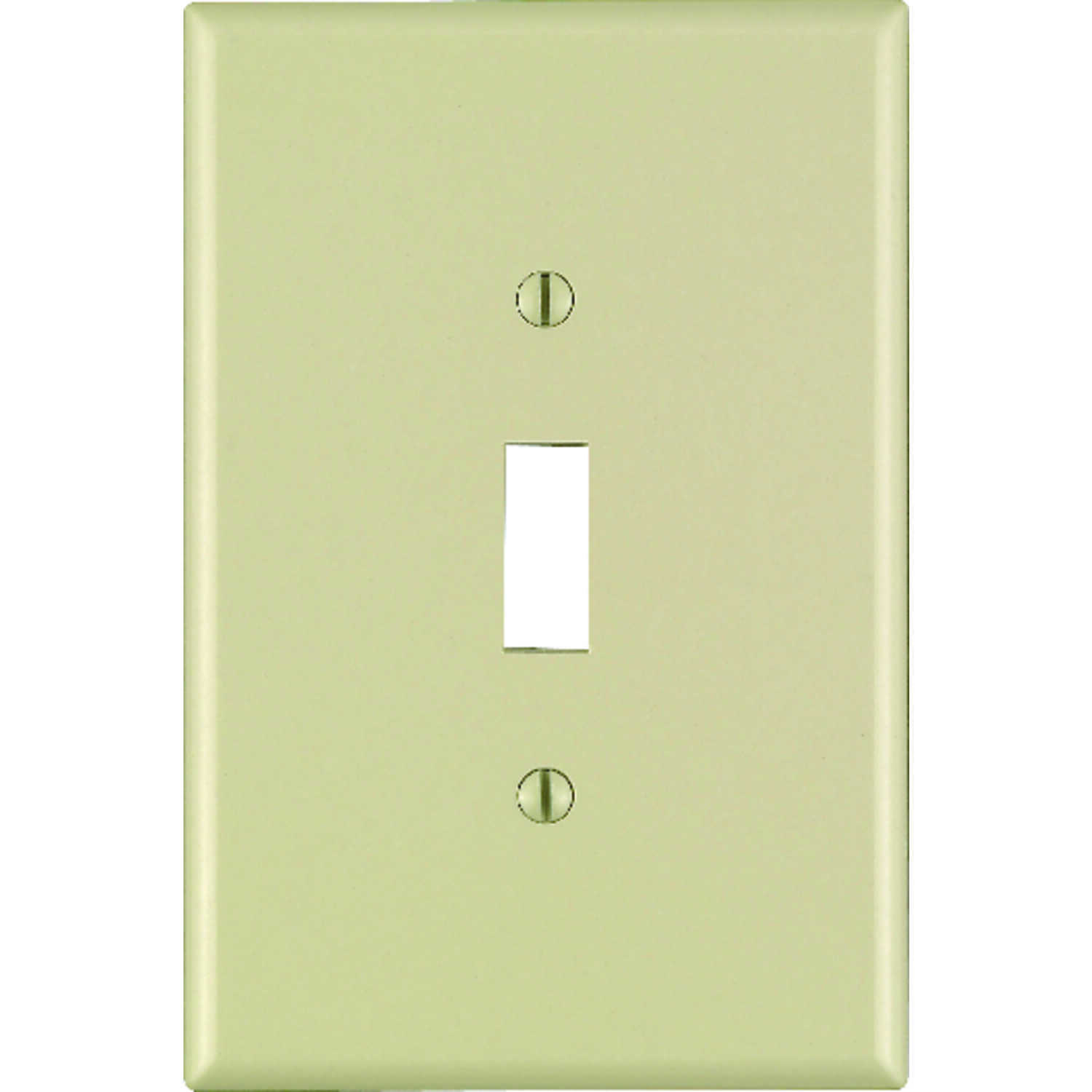 Leviton  Ivory  1 gang Nylon  Toggle  Wall Plate  1 pk