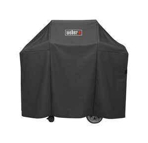 Weber  Genesis II  Black  Grill Cover  52 in. W x 25 in. D x 44.5 in. H For Fits Genesis II and Gene