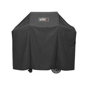 Weber  Genesis II  Black  Grill Cover  25 in. D x 44.5 in. H x 52 in. W For Fits Genesis II and Gene