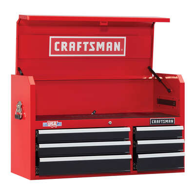 Craftsman  2000 Series  40 in. 6 drawer Steel  Tool Chest  24.5 in. H x 16 in. D