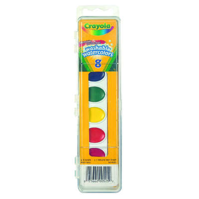 Crayola  Watercolor Paints  Assorted  8 pc.