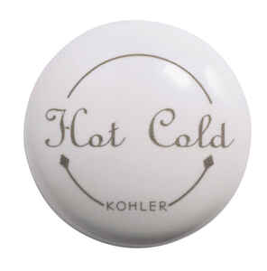 Kohler  1/2 inch  Dia. Single Plug Button  Plastic  White