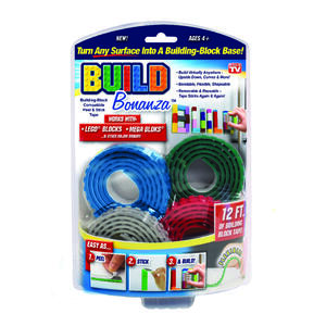 Build Bonanza  As Seen On TV  Assorted  36 in. L x 0.5 in. W Building Block Tape