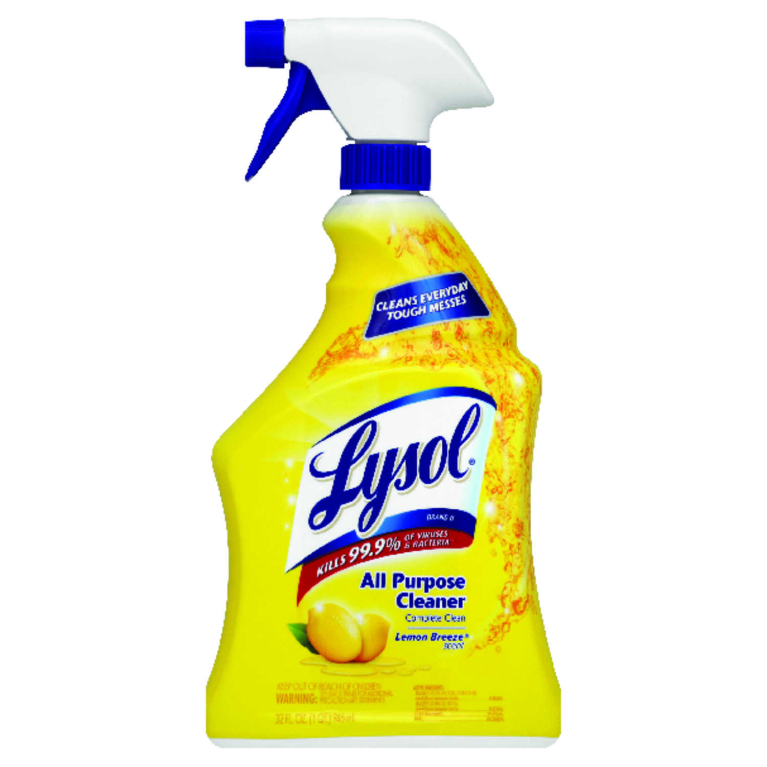 Lysol  Lemon Scent All Purpose Cleaner  32 oz. Liquid
