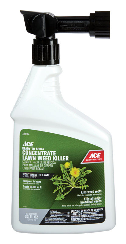 Ace  RTS Hose-End Concentrate  Weed Killer  32 oz.