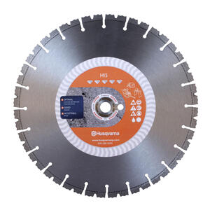 Husqvarna  14  Diamond  HI5  Segmented Rim Saw Blade  0.125 in. thick  1 in./20 mm  24 teeth 1 pk