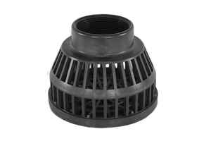 Abbott Rubber  2 in. Matte  Plastic  Dome Strainer
