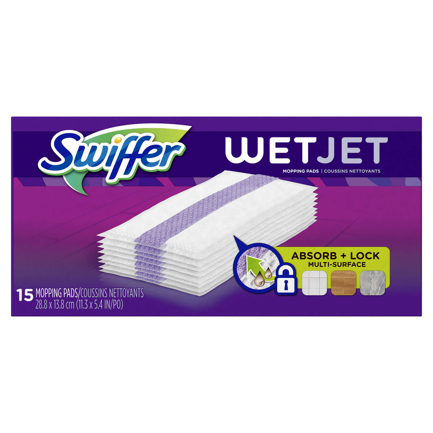 Swiffer 11.3 in. W x 5.4 in. L Wet Cloth Mop Pad 15 pk