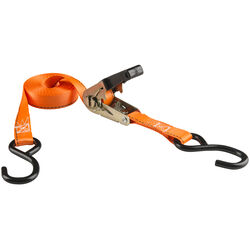 Keeper  1 in. W x 15 ft. L Orange  Tie Down w/Ratchet  500 lb. 2 pk
