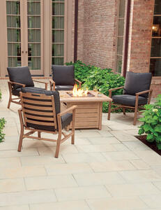Living Accents  Peninsula  5 pc. Aluminum  Patio Set  Brown
