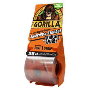 Gorilla  2.88 in. W x 1440 in. L Packaging Tape  Clear