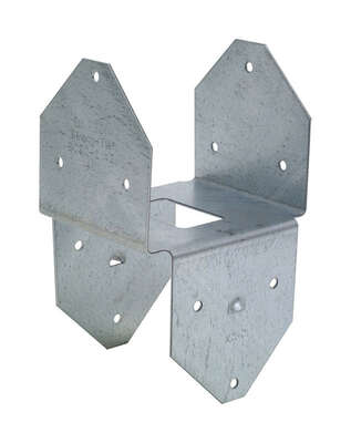 Simpson Strong-Tie  ZMax  3.56 in. H x 3.13 in. W 18 Ga. Steel  Post Base
