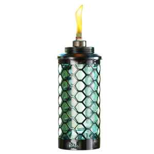 Tiki  Glass  Blue  65 in. Honeycomb  Garden Torch