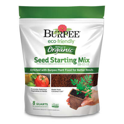 Burpee  eco friendly  Organic .06-.03-.03  Seed Starting Mix  8 qt.