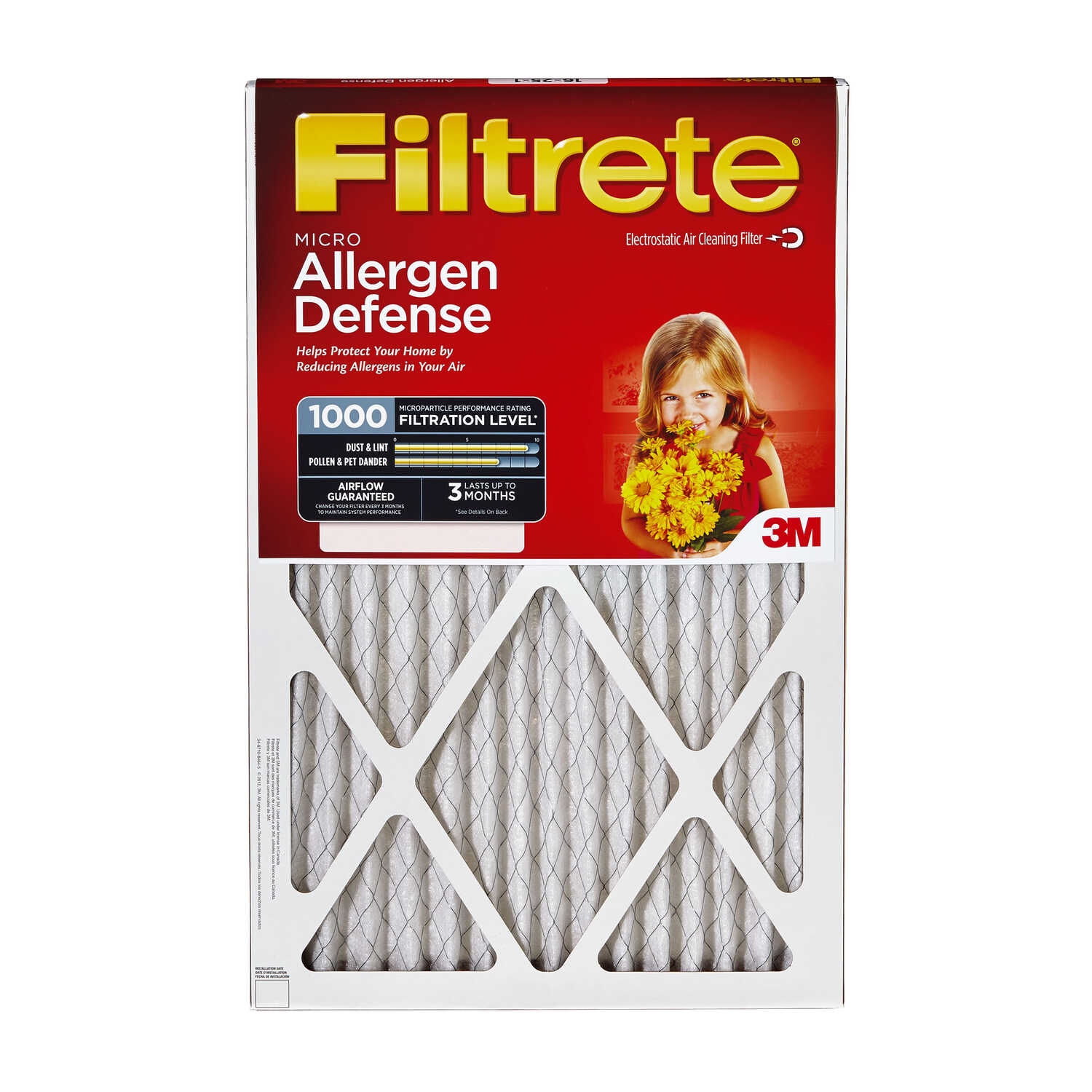 3M  Filtrete  15 in. W x 20 in. H x 1 in. D Pleated Air Filter