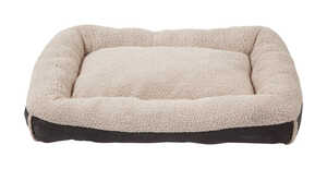 Aspen Pet  Gray  Bolster Bed  Faux Lambs Wool  Rectangle  Deluxe Pet Pillow  10 in. H x 40 in. W x 3