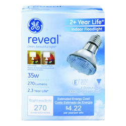 GE  Reveal  35 watts PAR20  Floodlight  Halogen Bulb  270 lumens White  1 pk