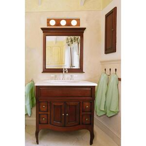 Westinghouse  Brown  3 lights Vanity Light  Wall Mount