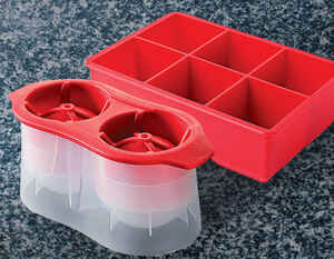 Sharper Image  Red  Ice Molds for Drinks