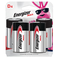 Energizer  MAX  D  Alkaline  Batteries  4 pk Carded
