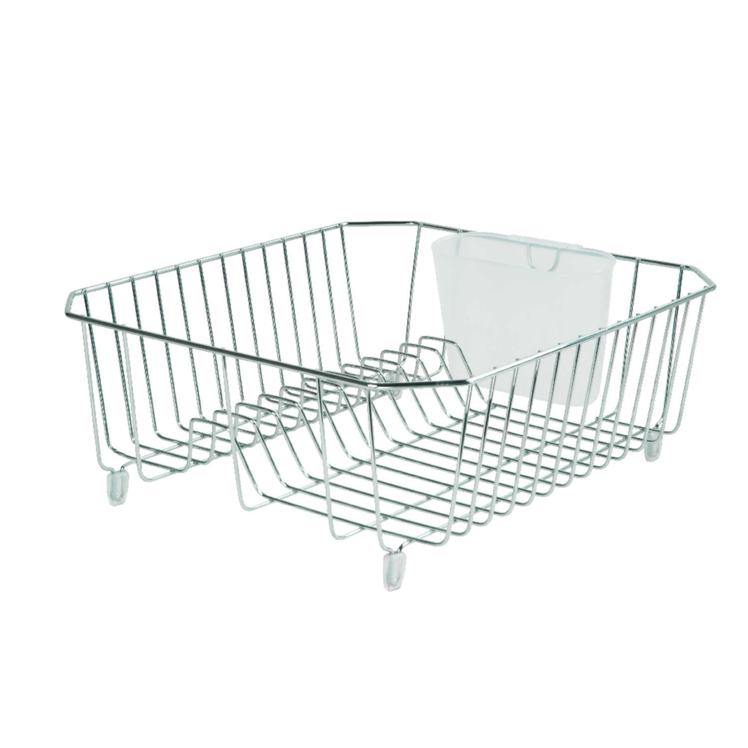 Rubbermaid  5.3 in. H x 14.3 in. L x 12.4 in. W Dish Drainer  Chrome  Steel