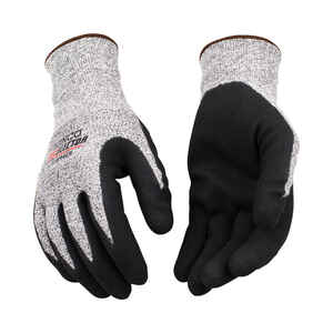 Kinco  CutFlector  Men's  Indoor/Outdoor  Nitrile Coated  Cut Resistant  Gloves  Black/White  M  1 p