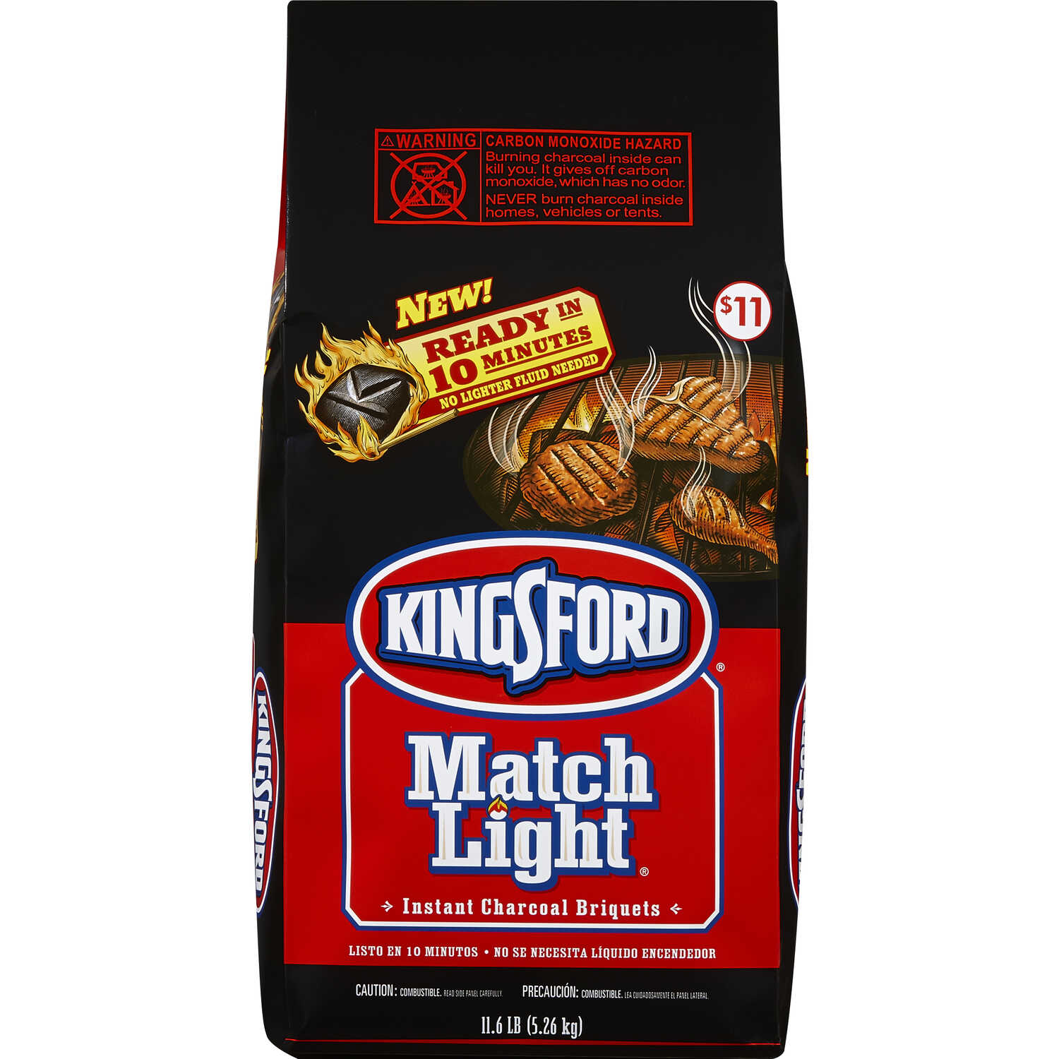 Kingsford  Match Light  Original  Charcoal Briquettes  11.6 lb.