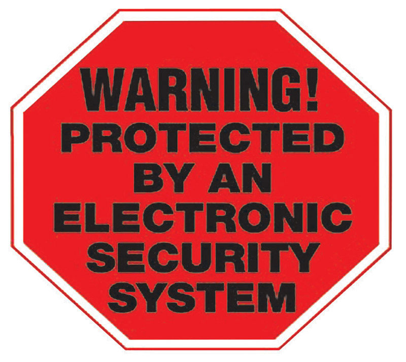 Hy-Ko  English  Warning! Protected by an Electronic Security System  4 in. H x 4 in. W Vinyl  Sign