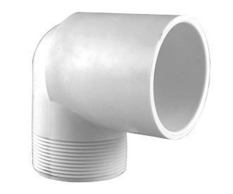 Charlotte Pipe  Schedule 40  1 in. Slip   x 1 in. Dia. MPT  PVC  Street Elbow