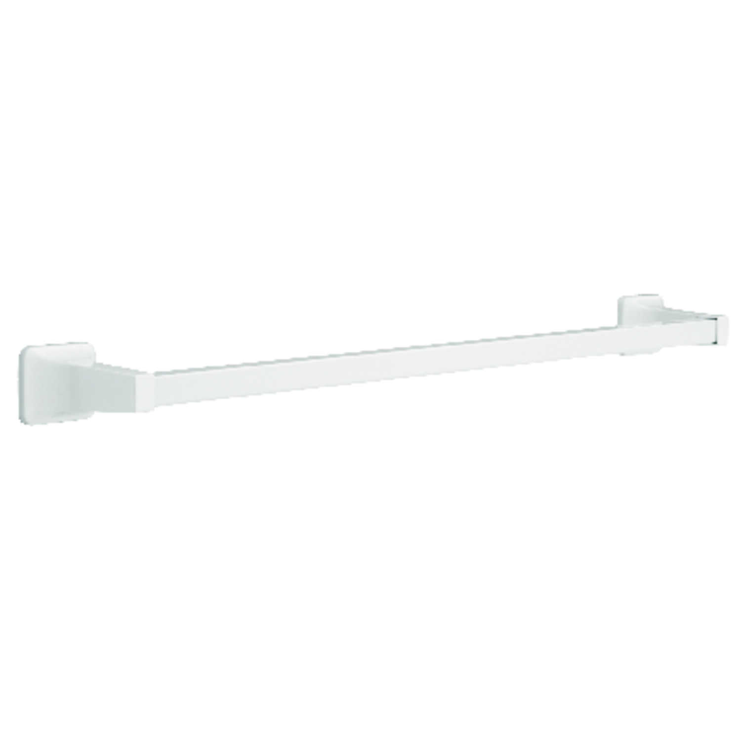 Franklin Brass  Futura  White  Towel Bar  26.24 in. L Die Cast Zinc
