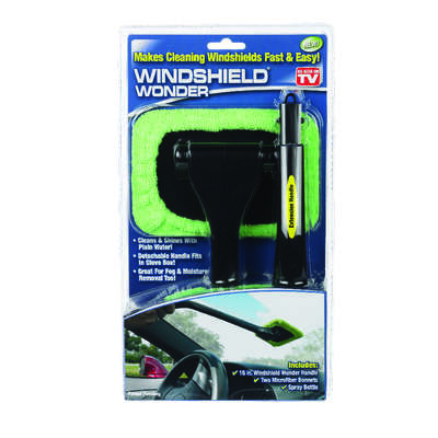 Telebrands  Windshield Wonder  As Seen On TV  Cleaning Tool  Microfiber  1 pk