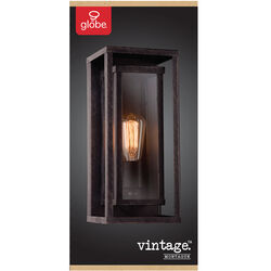 Globe Electric  Vintage  1-Light  Natural Bronze  Montague  Wall Sconce
