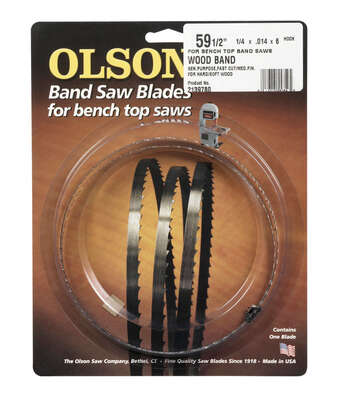 Olson 59.5 in. L x 0.25 in. W x 0.014 in. thick Carbon Steel Band Saw Blade 6 TPI Hook