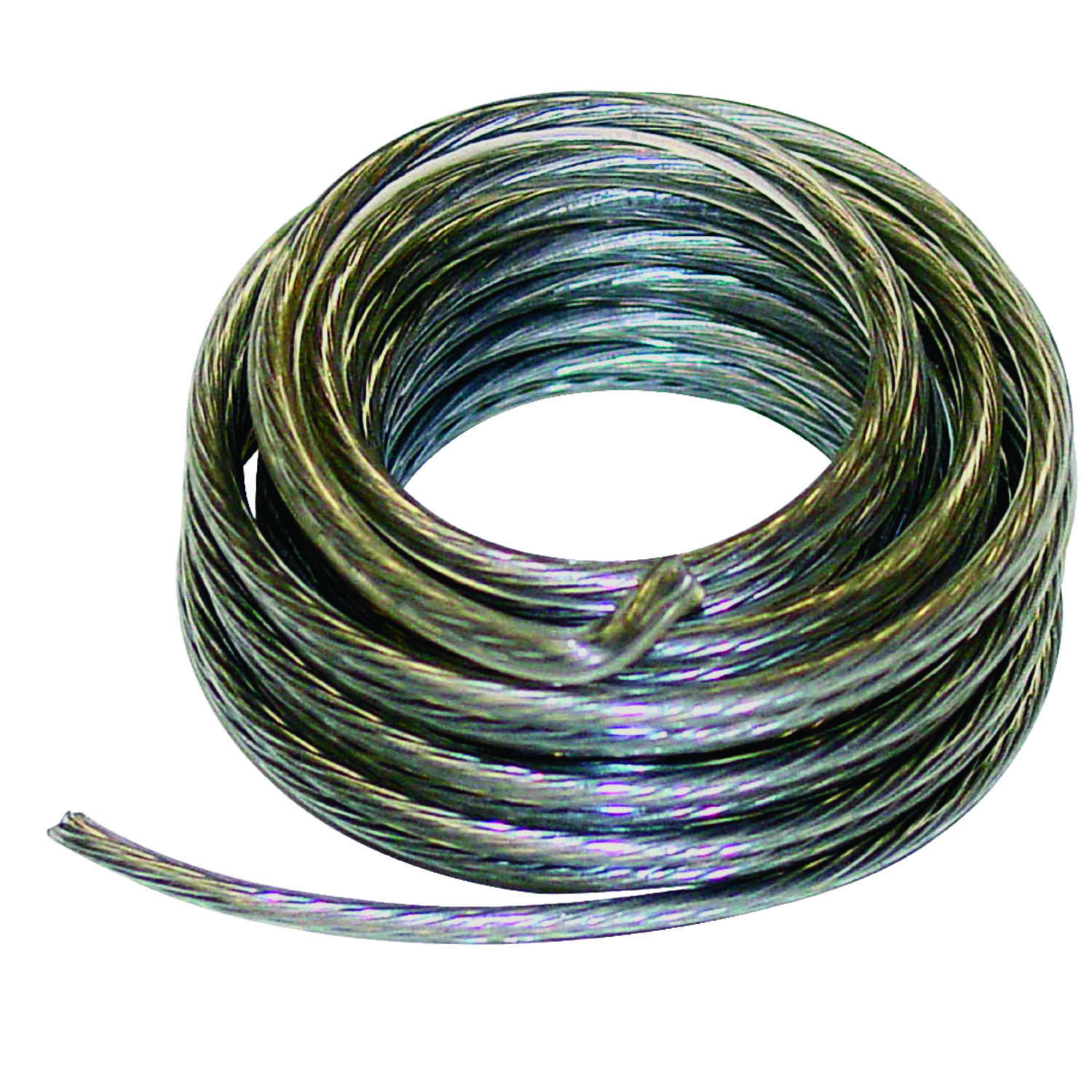 HILLMAN  OOK  Plastic Coated  Picture Wire  50 lb. 1 pk Stainless Steel