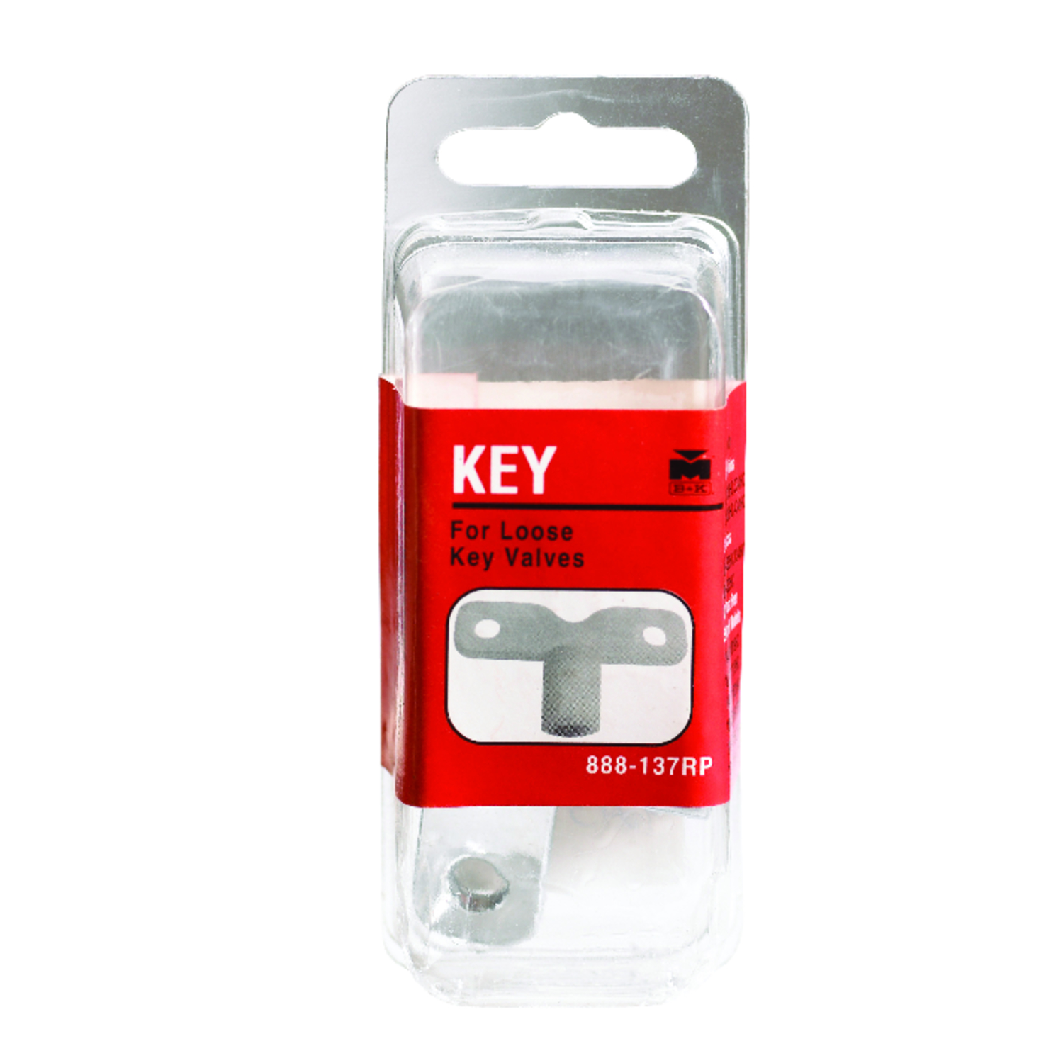 B & K  5/16 in. Dia. x 5/16 in. Dia. Chrome  Loose Key Handle