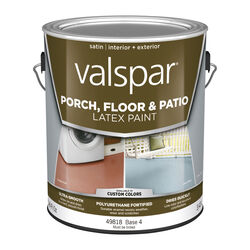 Valspar  Satin  Clear  Base 4  Porch & Patio Floor Paint  1 gal.