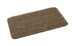 GrassWorx 30 in. L x 18 in. W Tan Nonslip Door Mat