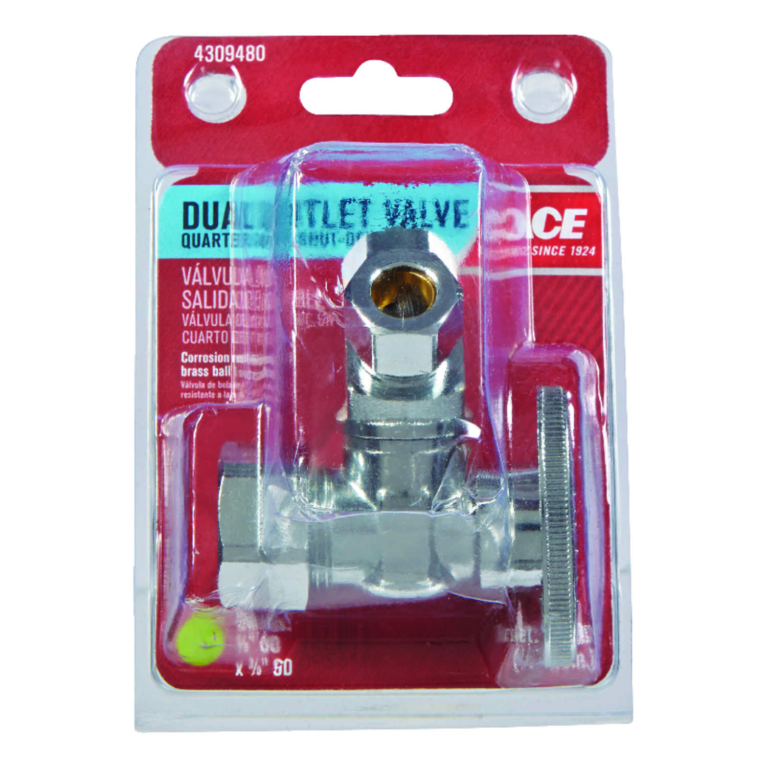 Ace  Compression   Compression  Brass  Dual Shut-Off Valve