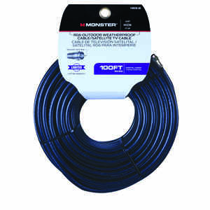 Monster Cable  Just Hook it Up  100 ft. Weatherproof Video Coaxial Cable