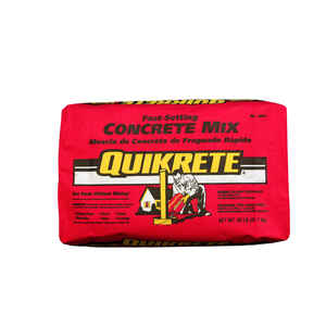 Quikrete  Fast Setting Concrete Mix  50 lb.