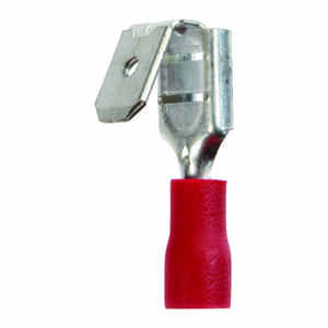 Jandorf  22-18 Ga. Insulated Wire  Terminal Disconnect  Red  5 pk