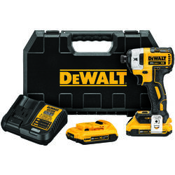 DeWalt 20V MAX 20 volt 1/4 in. Cordless Brushless Impact Driver Kit (Battery & Charger)