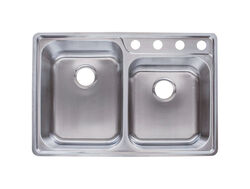 Franke  Stainless Steel  Top Mount  33-1/2 in. W x 22-1/2 in. L Two Bowls  Kitchen Sink